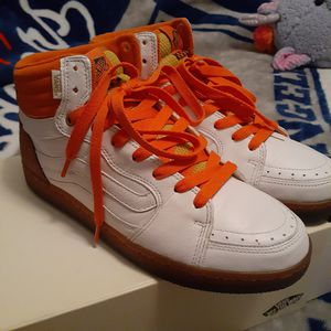 Van's high top WHITE LEATHER for Sale in San Diego, CA