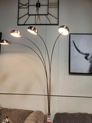 4-Headed Floor Lamp, Silver for Sale in Santa Ana, CA