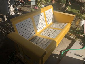 Yellow Porch swing (glider) for Sale in Garden Grove, CA
