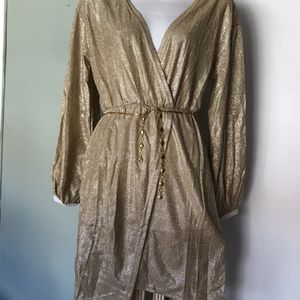 XMAS 🎁NEW Sz M Old Gold DRESS for Sale in Fontana, CA