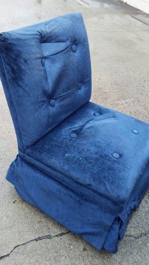 Blue Suede Chair for Sale in Atlanta, GA