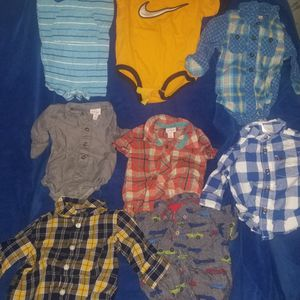 Nike Bodysuits, Carter's, Old Navy And Cat&Jack Dressing shirts Size 0-6months for Sale in Bell, CA