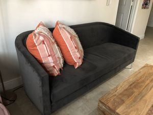 WEST ELM SUEDE COUCH for Sale in Boca Raton, FL