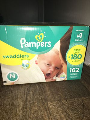 Pampers newborn size162 ct for Sale in Riverdale, GA