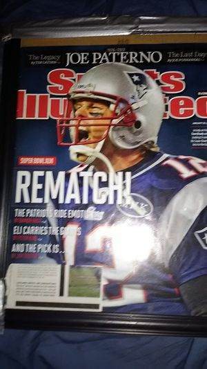 NEW ENGLAND PATRIOTS QB TOM BRADY ON THE REMATCH WITH THE NEMESIS NEW YORK GIANTS. for Sale in Yardley, PA
