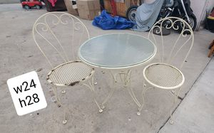 Vintage rustic farmhouse distressed shabby chic patio set table chairs for Sale in Garden Grove, CA