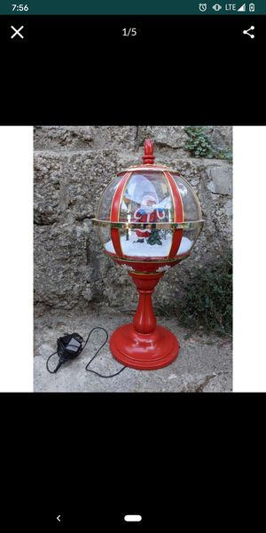 Christmas Santa table top lamp snow globe with music for Sale in Monterey Park, CA