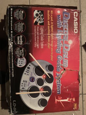 Casio Ld-80 drum and pedals for Sale in Garden Grove, CA