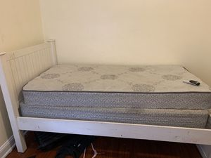 Twin size bed(frame/mattress/box spring) for Sale in Philadelphia, PA