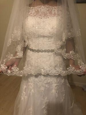 Wedding dress David's bridal for Sale in Pembroke Pines, FL