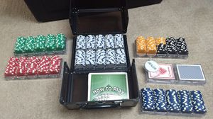 Poker chips set (weighted) for Sale in Washington, DC