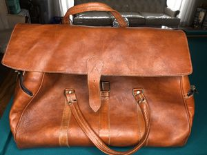 Moroccan Leather Duffle Bag for Sale in San Diego, CA