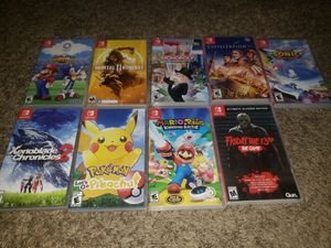 9 Nintendo switch games for Sale in Carrollton, TX