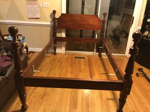 3/4 size solid wood bed frame for sale (read the description carefully) for Sale in Manakin-Sabot, VA