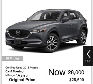 SUV 2018 Mazda Cx-5 - like new .. very excellent condition- Finence $ 28,000 .. Black for Sale in Anaheim, CA
