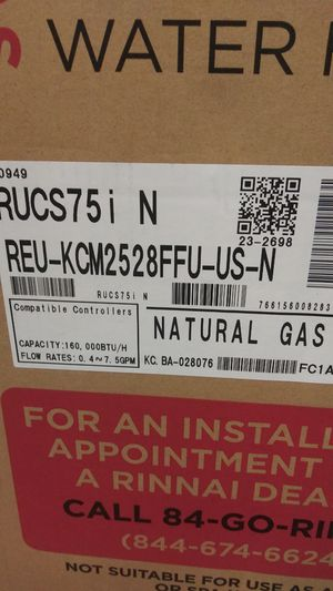 Rinnai tankless gas water heater for Sale in Seattle, WA