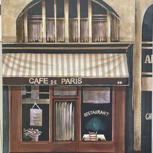 Parisian café painting for Sale in Murrieta, CA