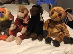 Monkey beanie babies for Sale in Norfolk, VA