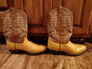 Laredo Men's Ostrich Pattern Brown Cowboy Boots size 11 D for Sale in Springfield, IL