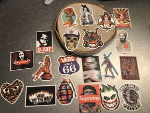 54 varies of stickers Vans , Supreme , DGK for Sale in Tamarac, FL
