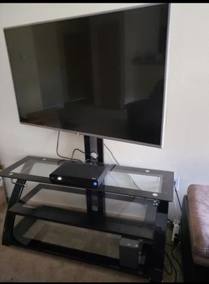 """Television Stand, for TVs up to 60"""", Black for Sale in Tacoma, WA"""