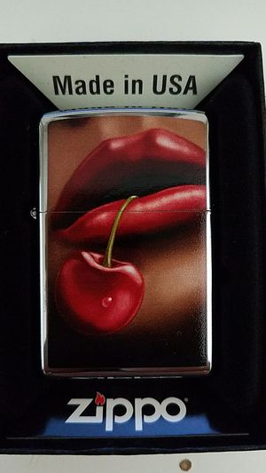 Zippo cherry lips high polished chrome 28655 for Sale in Los Angeles, CA