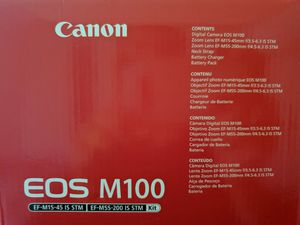 Eos m 100 new with 15 55 mm nd 55 200 mm bundle for Sale in Metuchen, NJ
