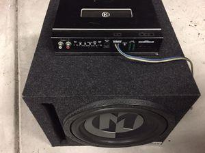 """12"""" Memphis subwoofer & 1000 watt Class D amplifier for Sale in Raleigh, NC"""