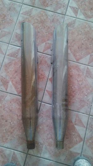 Chrome Tail pipes for Hardly/Honda/ Suzuki motorcycle for Sale in South Houston, TX