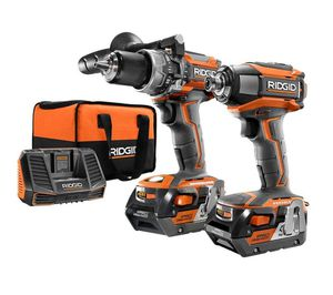 RIDGID 18-Volt Lithium-Ion Cordless Brushless Hammer Drill and Impact Driver 2-Tool Combo Kit with (2) 4.0Ah Batteries, Charger for Sale in Miami, FL