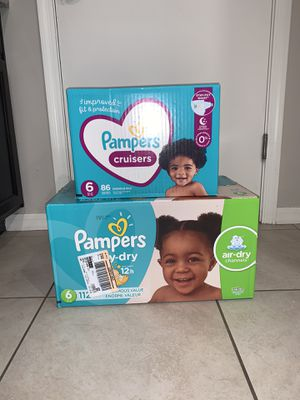Pampers size 6 $26 each for Sale in Phoenix, AZ