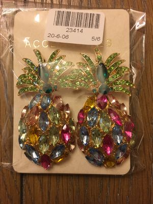 Colorful Crystal Pineapple Shaped Earrings for Sale in Essex, MD