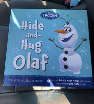 "DISNEY FROZEN HIDE AND HUG OLAF PICTURE BOOK AND 9"" PLUSH TOY for Sale in Long Beach, CA"