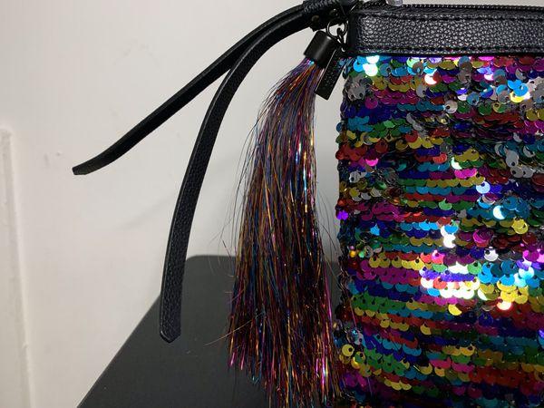 Victoria Secret | Colorful Sequin Clutch Purse Makeup Bag