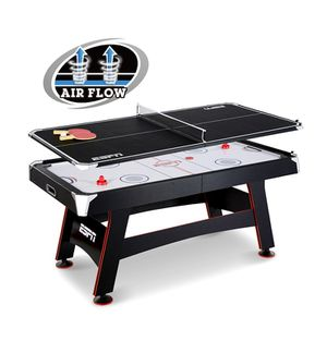 ESPN 72 inch air powered hockey table with table tennis top and in rail scorer for Sale in Austin, TX