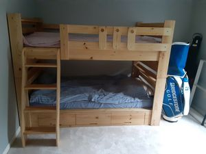Single sized bunk bed with two mattress included for Sale in Powell, OH