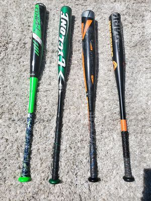 Youth baseball bats for sale 5 dollars to 30 dollars. They were my sons bats from age 8-12 for Sale in Lacey, WA