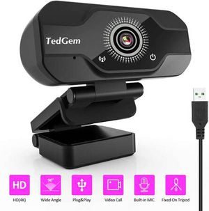 Webcam for Laptop USB, PC Camera Webcam with Microphone for Streaming, Video Calling and Recording, Gaming, Supports Windows, Android, Linux (4K/1080 for Sale in San Dimas, CA