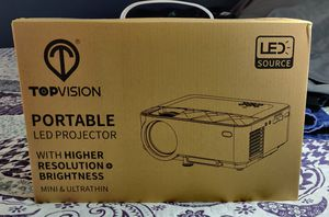 """Mini Projector, TOPVISION Projector with Synchronize Smart Phone Screen,1080P Supported, 176"""" Display for Sale in Bell Gardens, CA"""