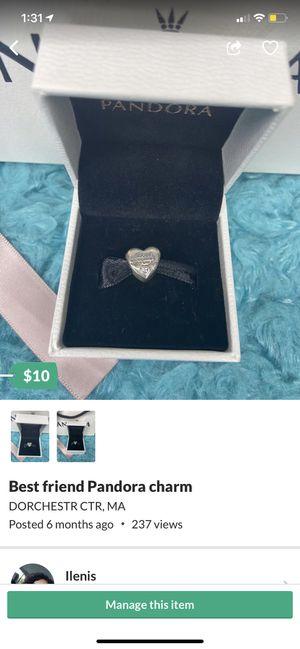 Best friend pandora charm repost for Sale in DORCHESTR CTR, MA