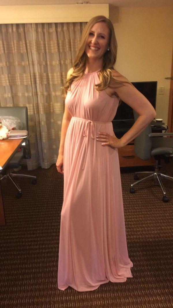 ef74da7be20 David s Bridal Soft Mesh Halter Dress in Ballet Pink for Sale in ...