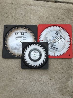 Lot of three Craftsman table/cut-off saw blades -American Made for Sale in Westerville, OH