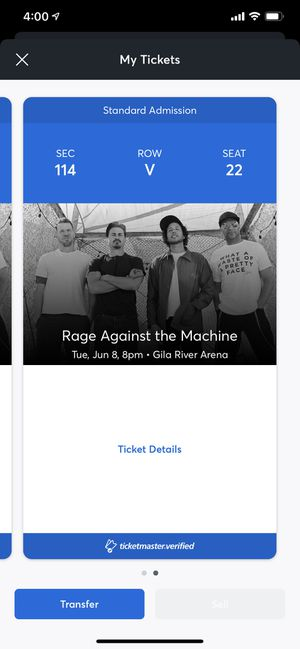 Rage against the machine tickets for Sale in Phoenix, AZ
