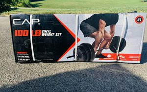 100lb Weight Lifting Set for Sale in Gilbert, AZ