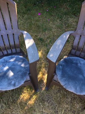 Sheepskin Seat Pads (2) for chairs for Sale in Woodway, WA