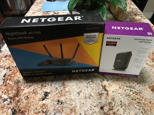 Netgear AC1750 router and Netgear CM700 modem for Sale in Miami, FL