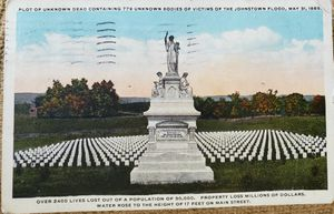 Year 1917 Johnstown Flood Memorial Postcard for Sale in Arvada, CO