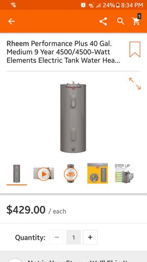 New hot water heater for Sale in Newark, NJ