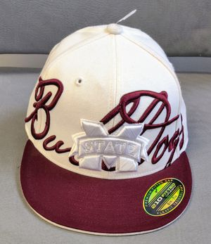 Hat-Mississippi State Bulldogs. Adidas 210 fitted by Flexfit Size 6 7/8 -7 1/4 for Sale in TN OF TONA, NY