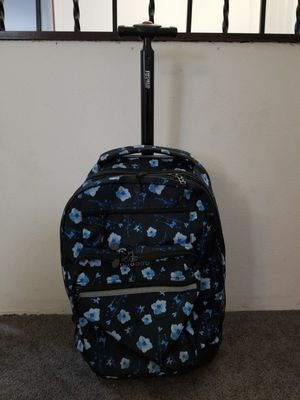 Black and Blue Hawaiian Flowers Rolling Backpack for Sale in Pomona, CA